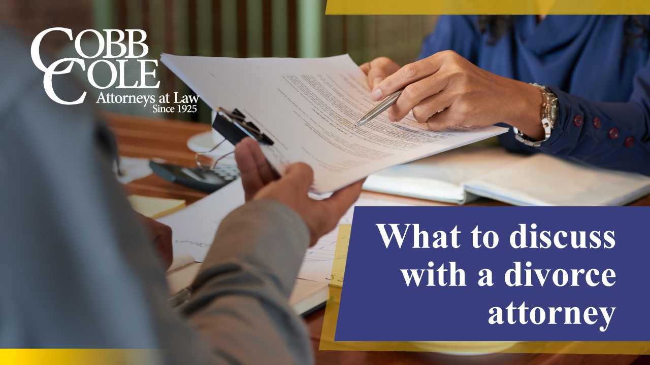 What to discuss with a divorce attorney