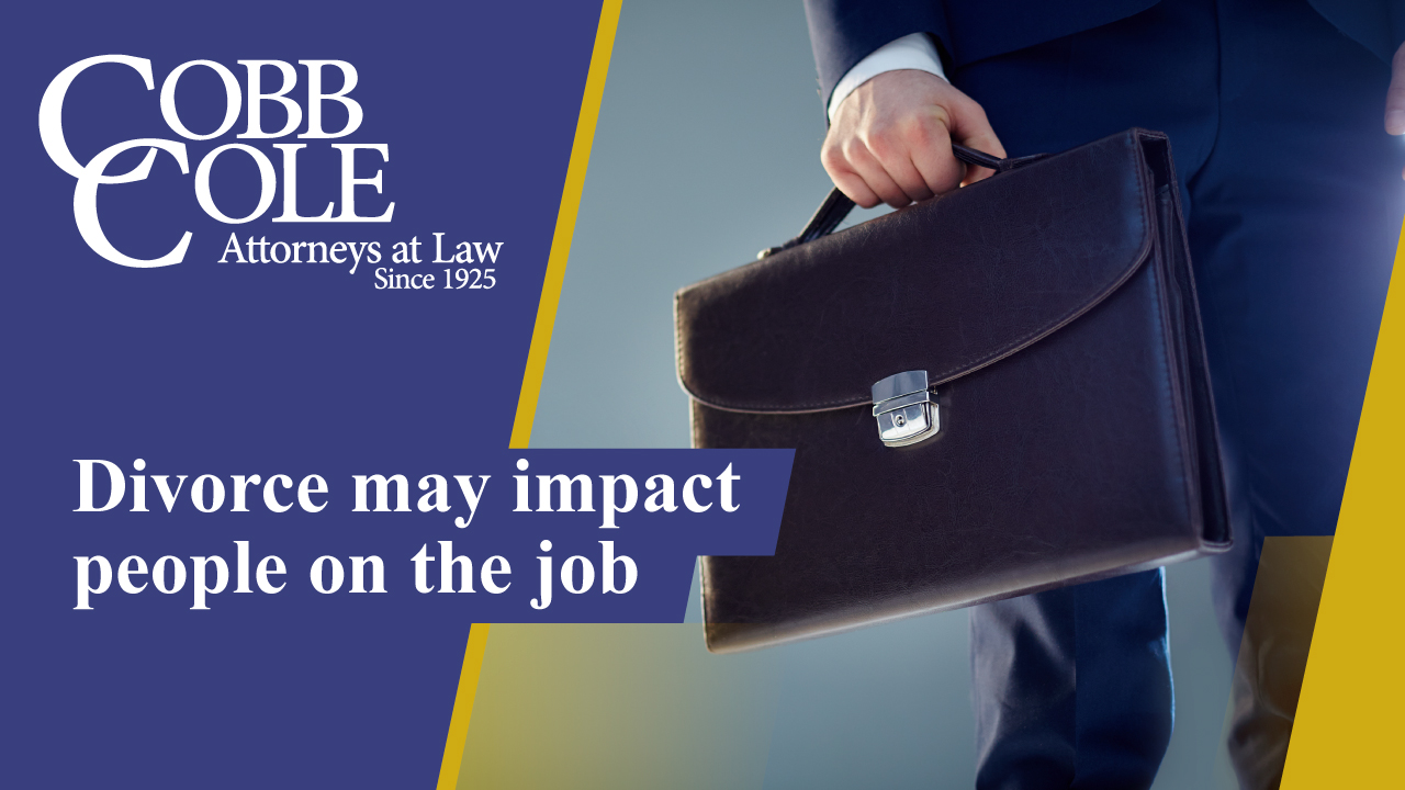 Divorce may impact people on the job
