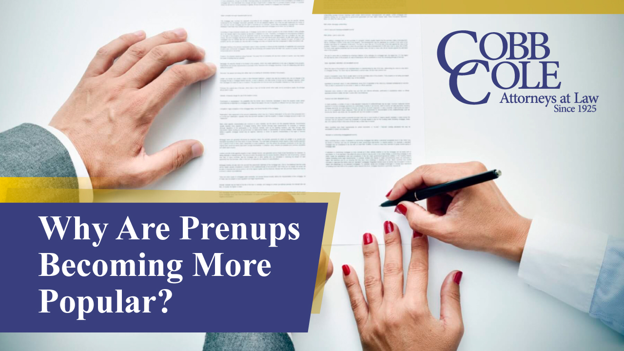 Why Are Prenups Becoming More Popular?