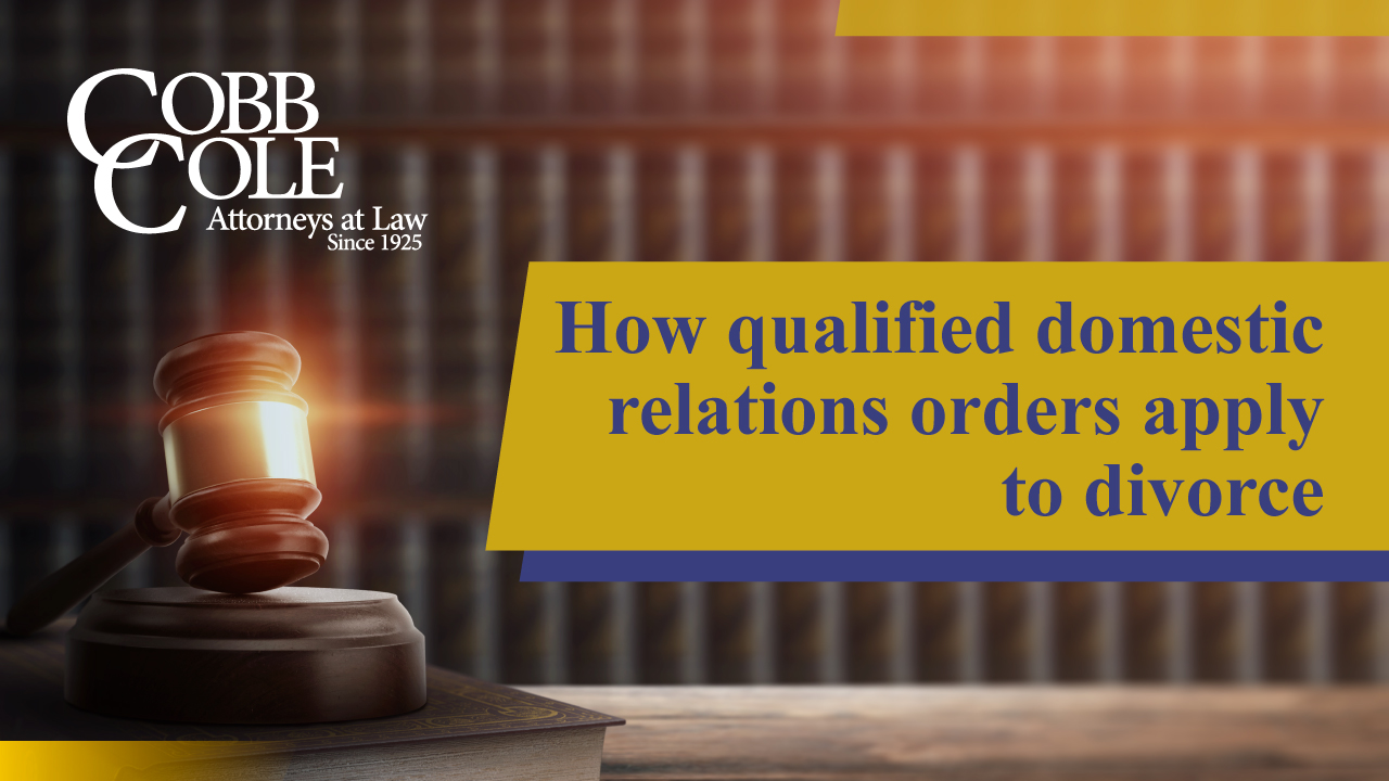 How qualified domestic relations orders apply to divorce