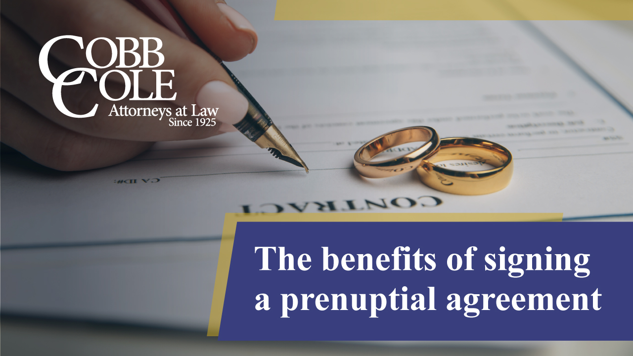 The benefits of signing a prenuptial agreement