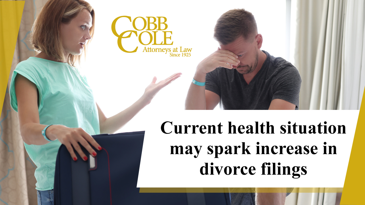 Current health situation may spark increase in divorce filings
