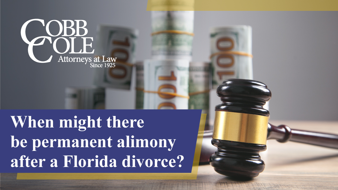 When might there be permanent alimony after a Florida divorce?