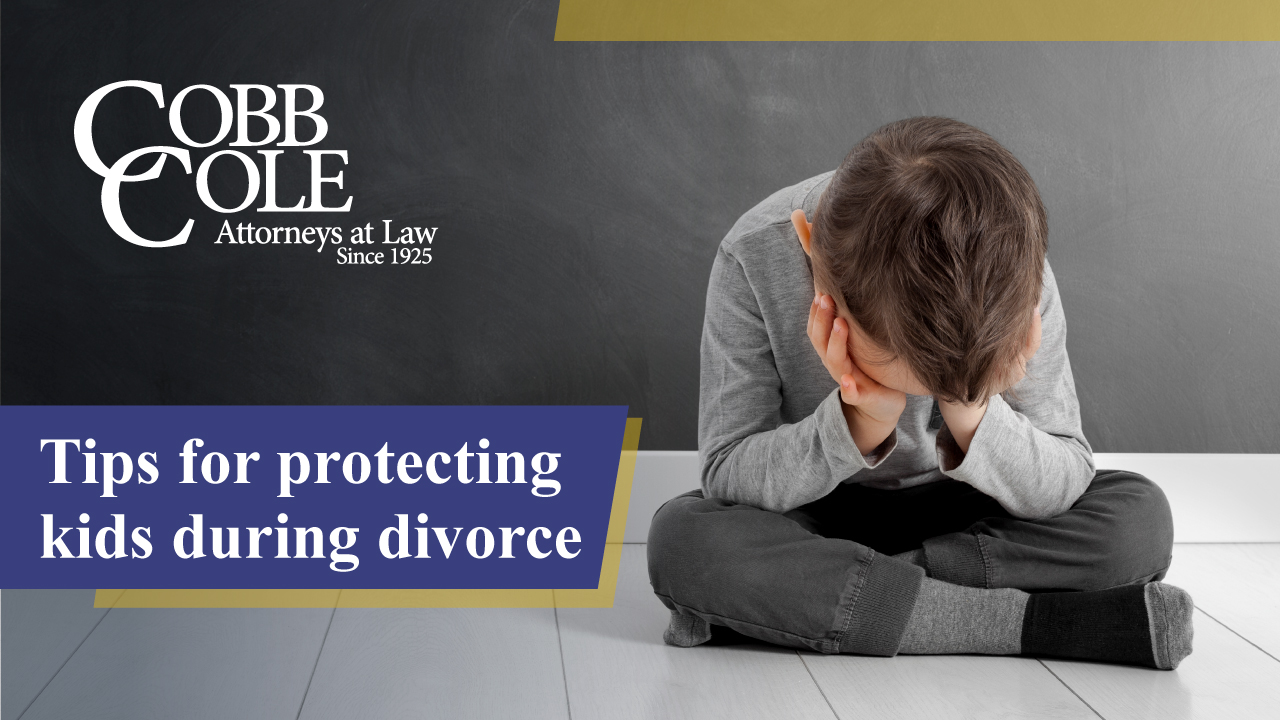 Tips for protecting kids during divorce