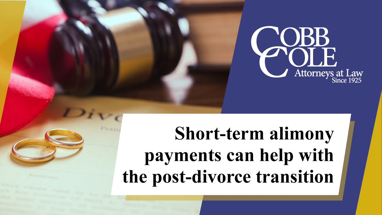 Short-term alimony payments can help with the post-divorce transition