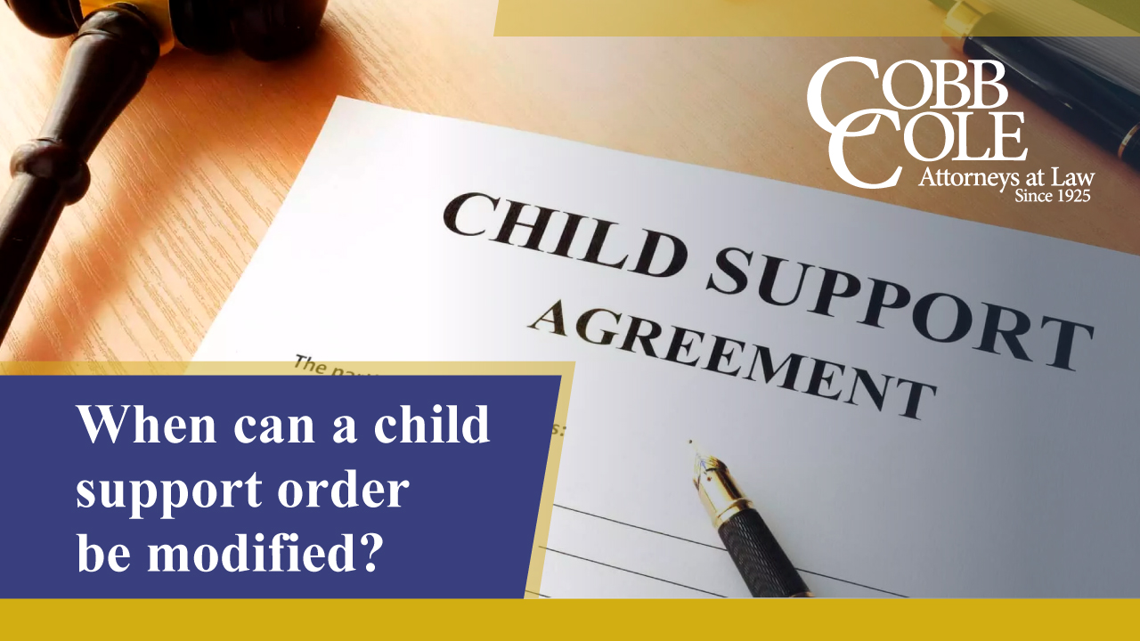 When can a child support order be modified?