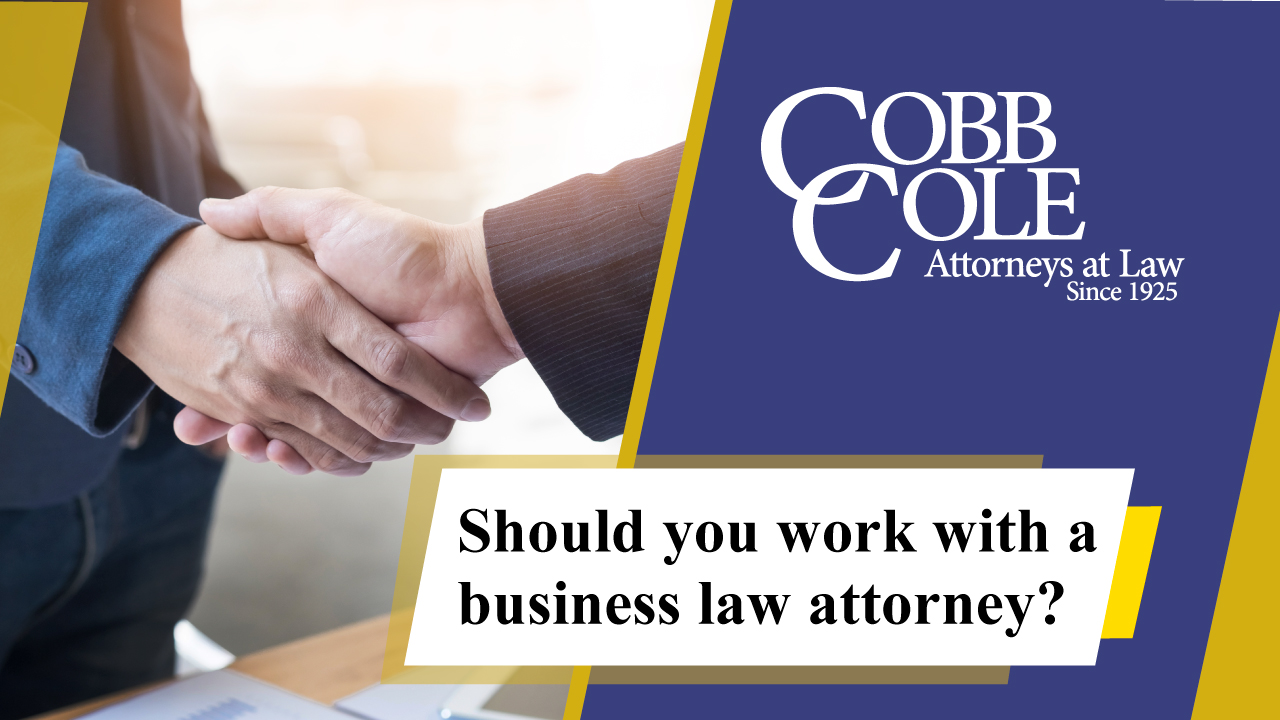 Should you work with a business law attorney?